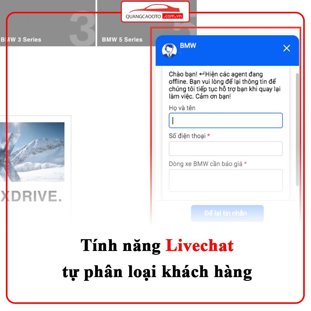 Tính năng Livechat - Quảng cáo Google Ads ngành ô tô